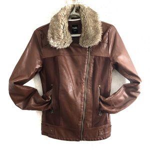 Twik Moto faux leather jacket. Size XS